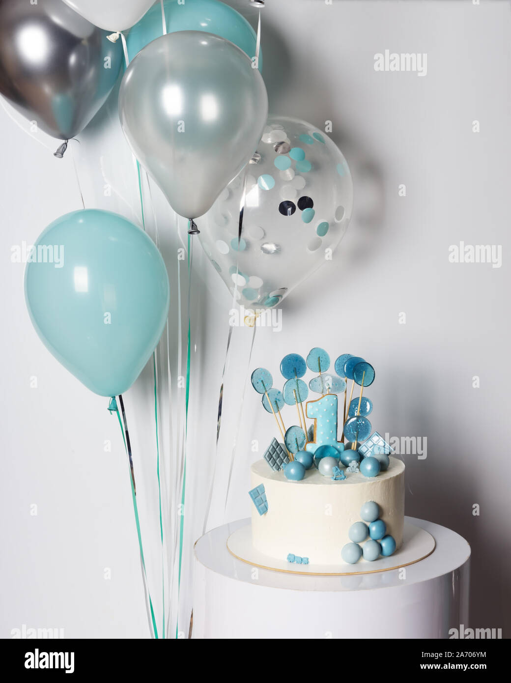 Fabulous Boy First Birthday Cake Stock Photos Boy First Birthday Cake Personalised Birthday Cards Veneteletsinfo