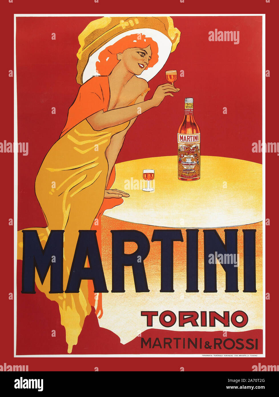 Aperitivo Rossi Martini Vermouth Drink Orange Head Balancing Bottle Italy Vintage Poster Repro FREE Shipping in USA Shipped Rolled-Up