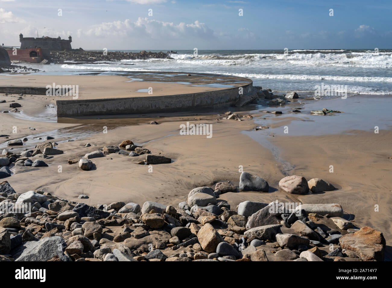 Matosinhos beach Stock Photo