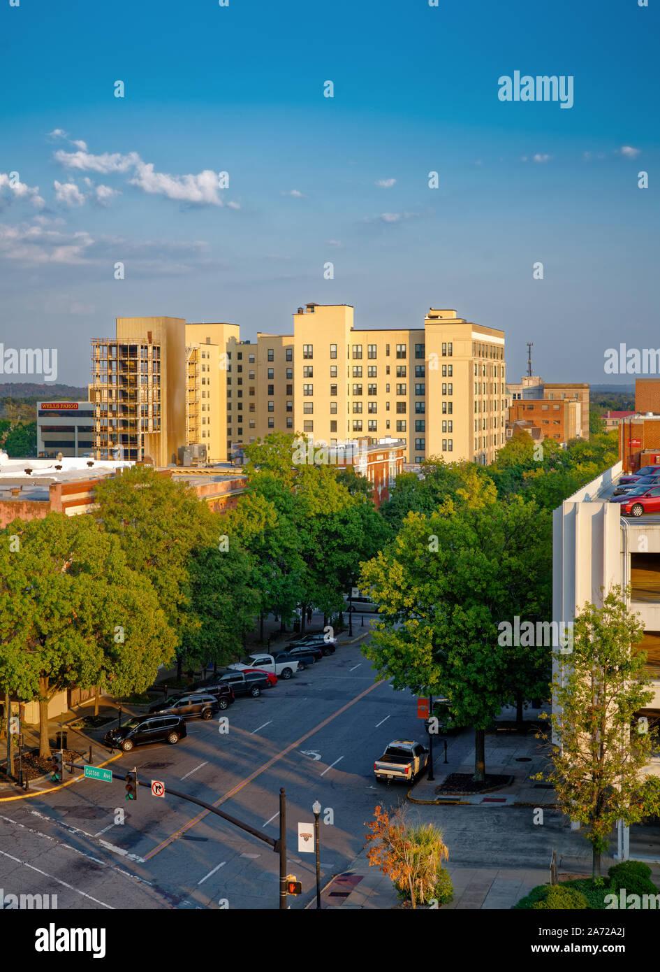 Downtown Macon GA Stock Photo