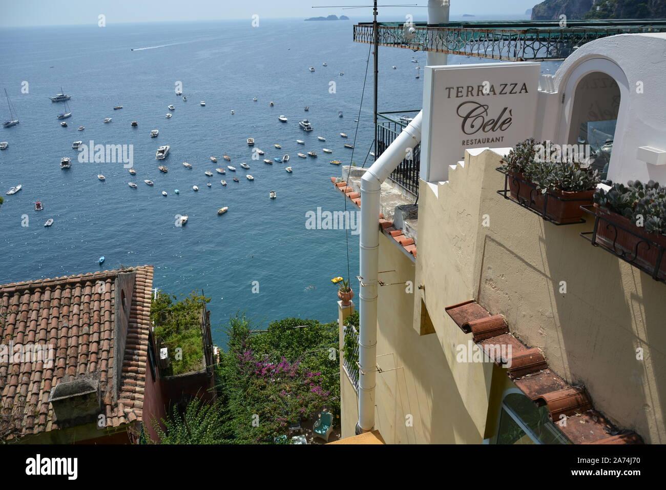 Positano Italy August 23 2018 The View Of Positano