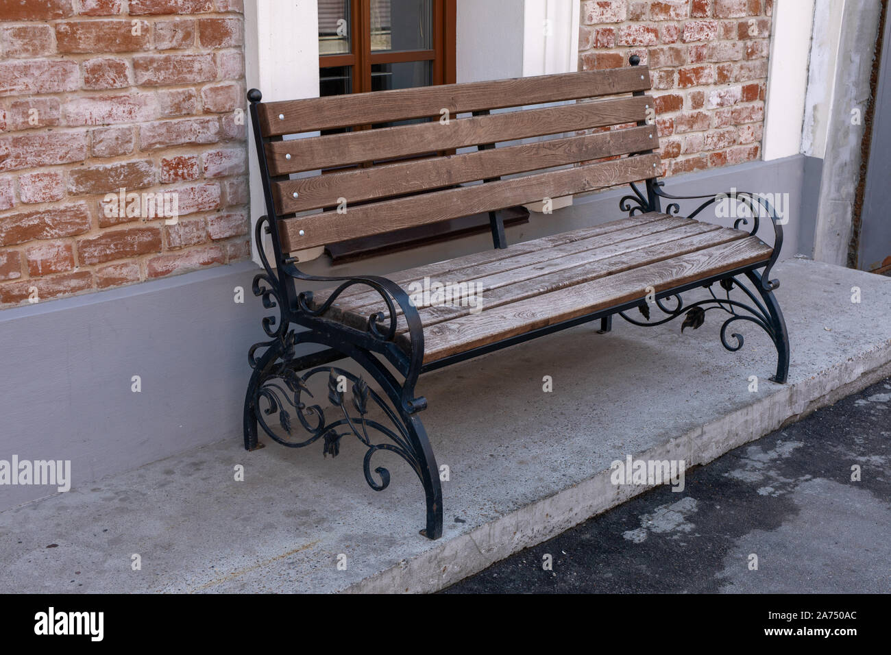Fantastic Texture Background Urban Landscape Bench With Wrought Iron Pdpeps Interior Chair Design Pdpepsorg