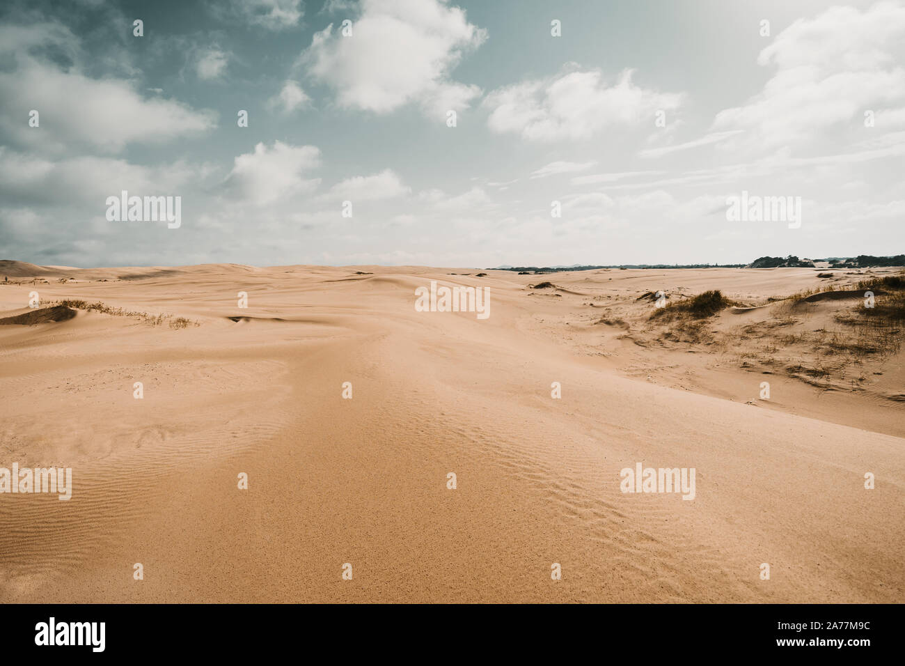 Blue Sky at the Sand Dune in Australia Stock Photo