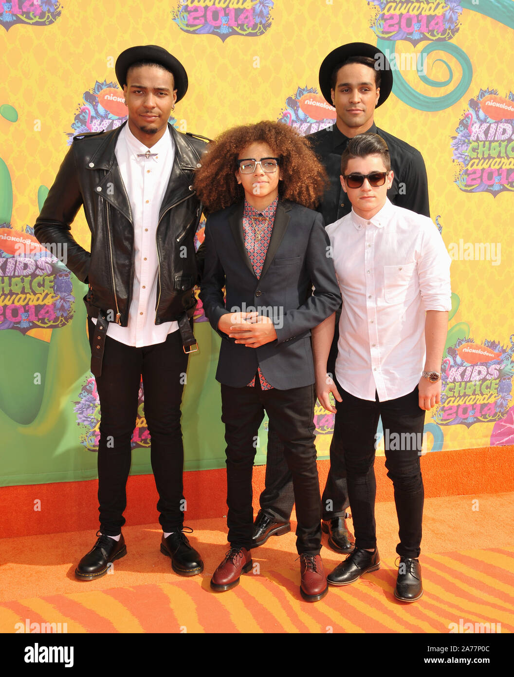 Los Angeles Ca March 29 2014 Dance Group Diversity Jordan Banjo Perri Kiely Ashley Banjo Mitchell Craske At Nickelodeon S 27th Annual Kids Choice Awards At The Galen Centre