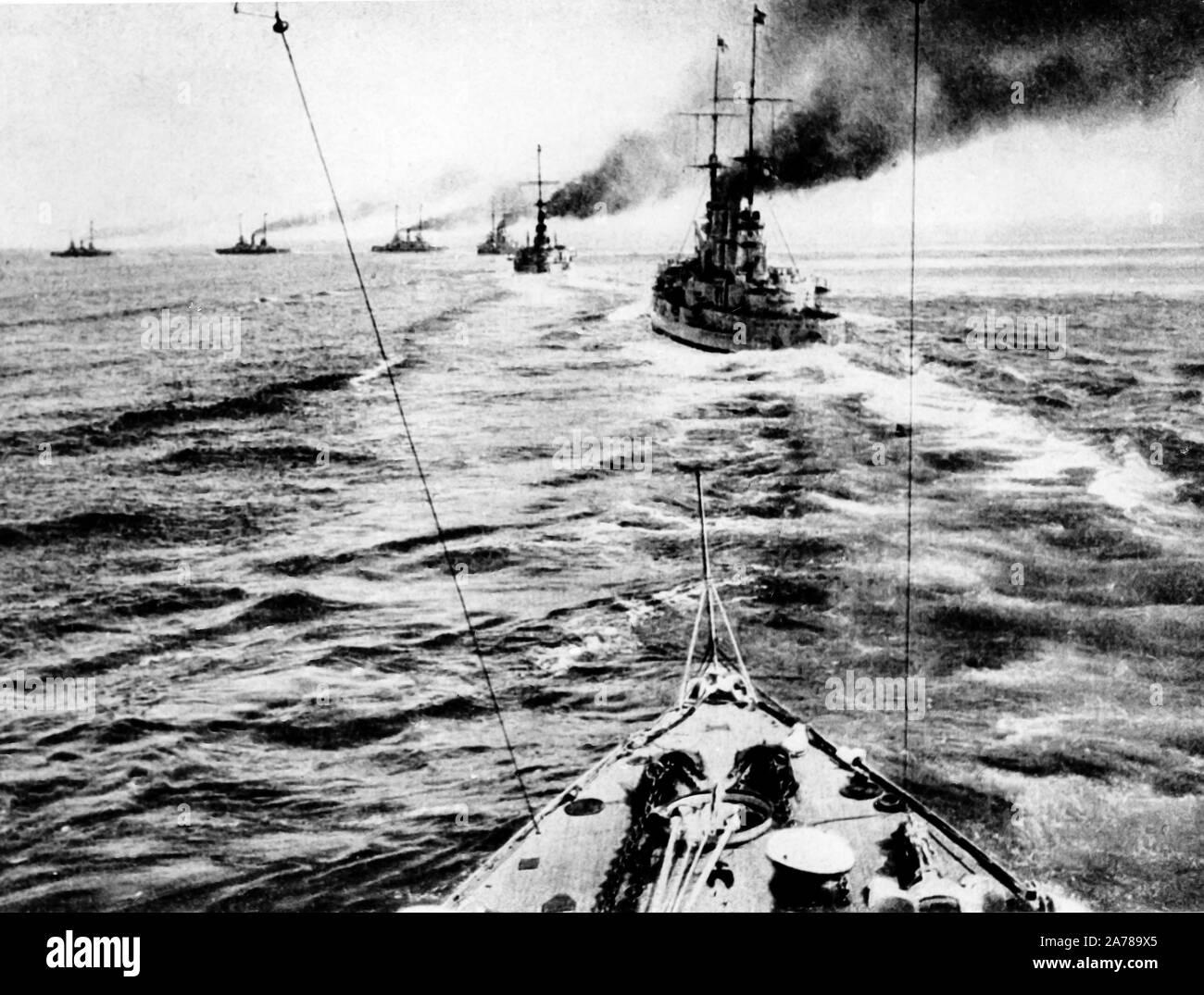 naval fleet, first world war Stock Photo