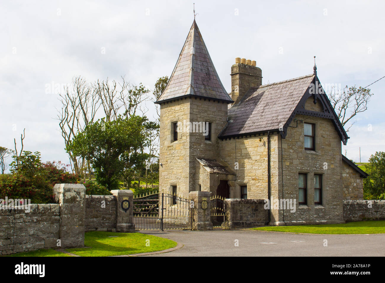 28 August 2019 The Gate Lodge Of Classiebawn Castle Estate And Grounds In Cliffoney County Sligo Ireland Once The Home Of The Late Lord Mountbatten Stock Photo Alamy