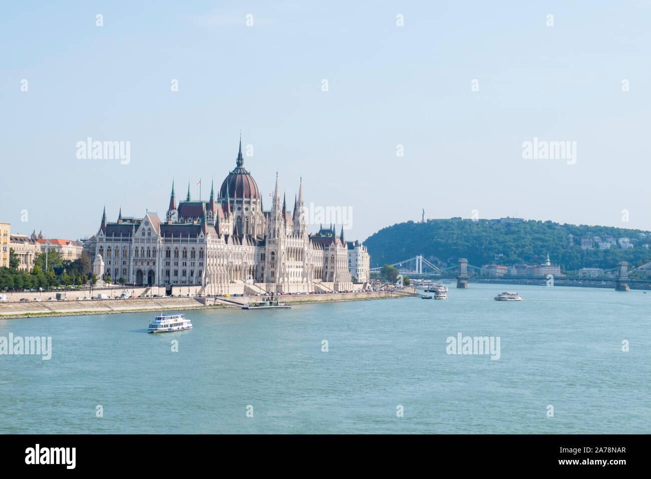 Országház, Hungarian Parliament Building, Budapest, Hungary Stock Photo