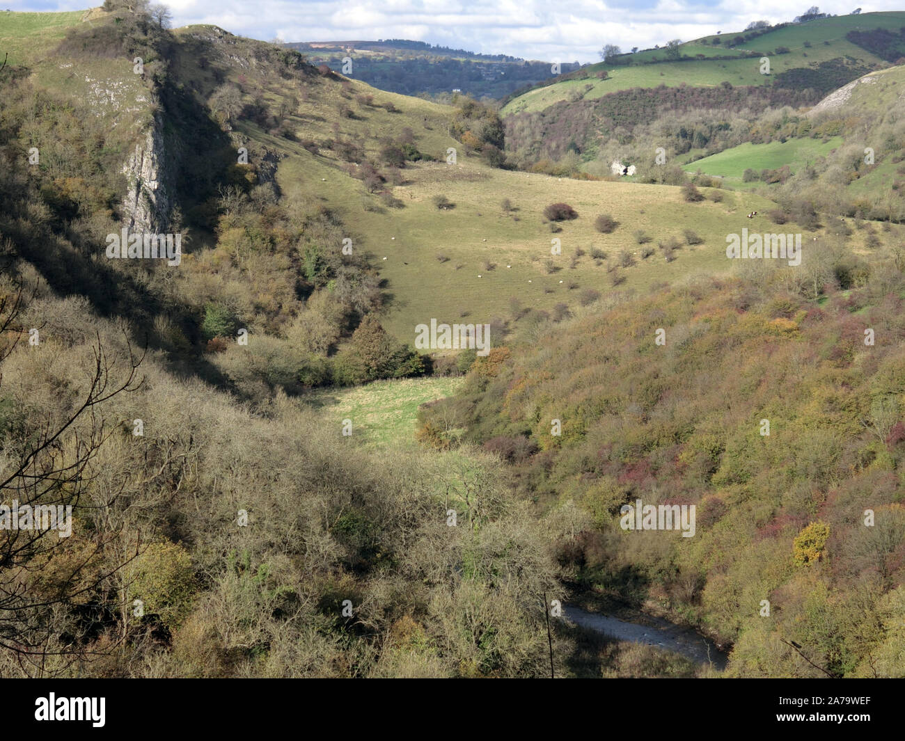 Manifold Valley, Peak District National Park, Staffordshire, England, UK in October Stock Photo