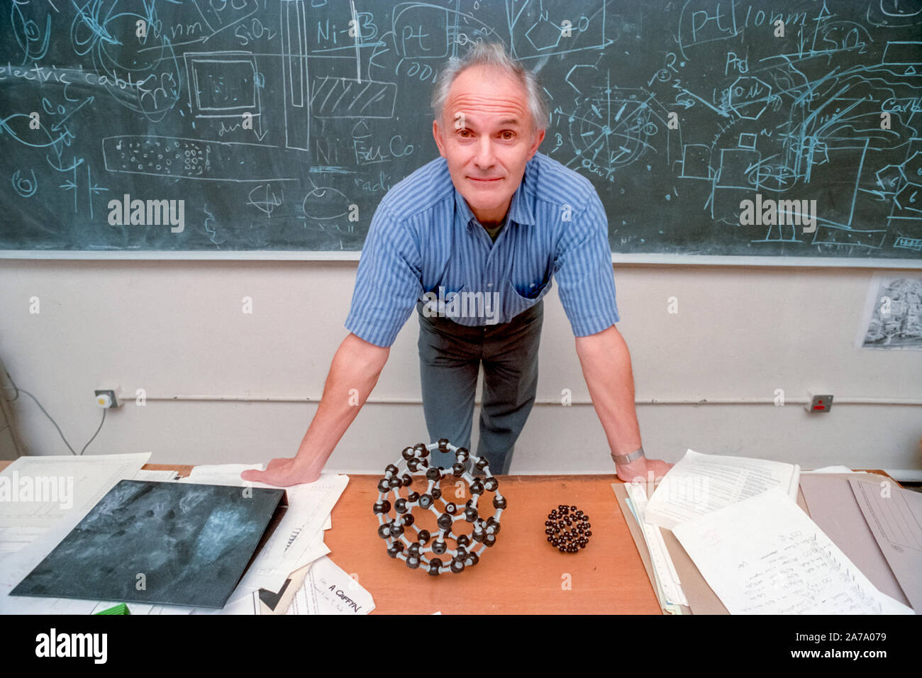 Professor Sir Harry Kroto Of The University Of Sussex Sir Harry Had Recently Been Awarded A Nobel Prize For Chemistry Stock Photo Alamy