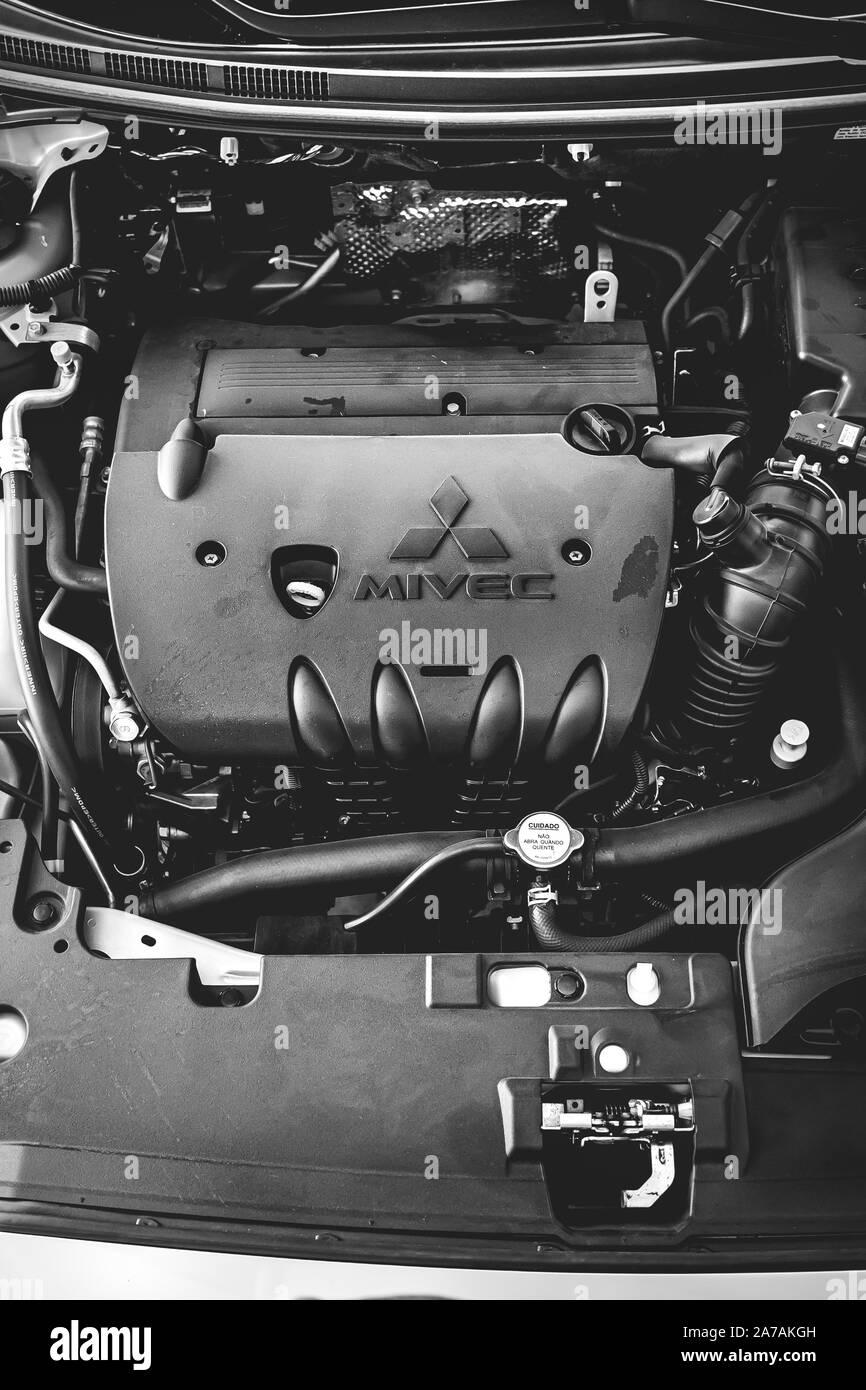 Brasilia Federal District Brazil October 31 2019 Mitsubishi Lancer Gt 2015 Car Engine Photography Mivec Engine Stock Photo Alamy