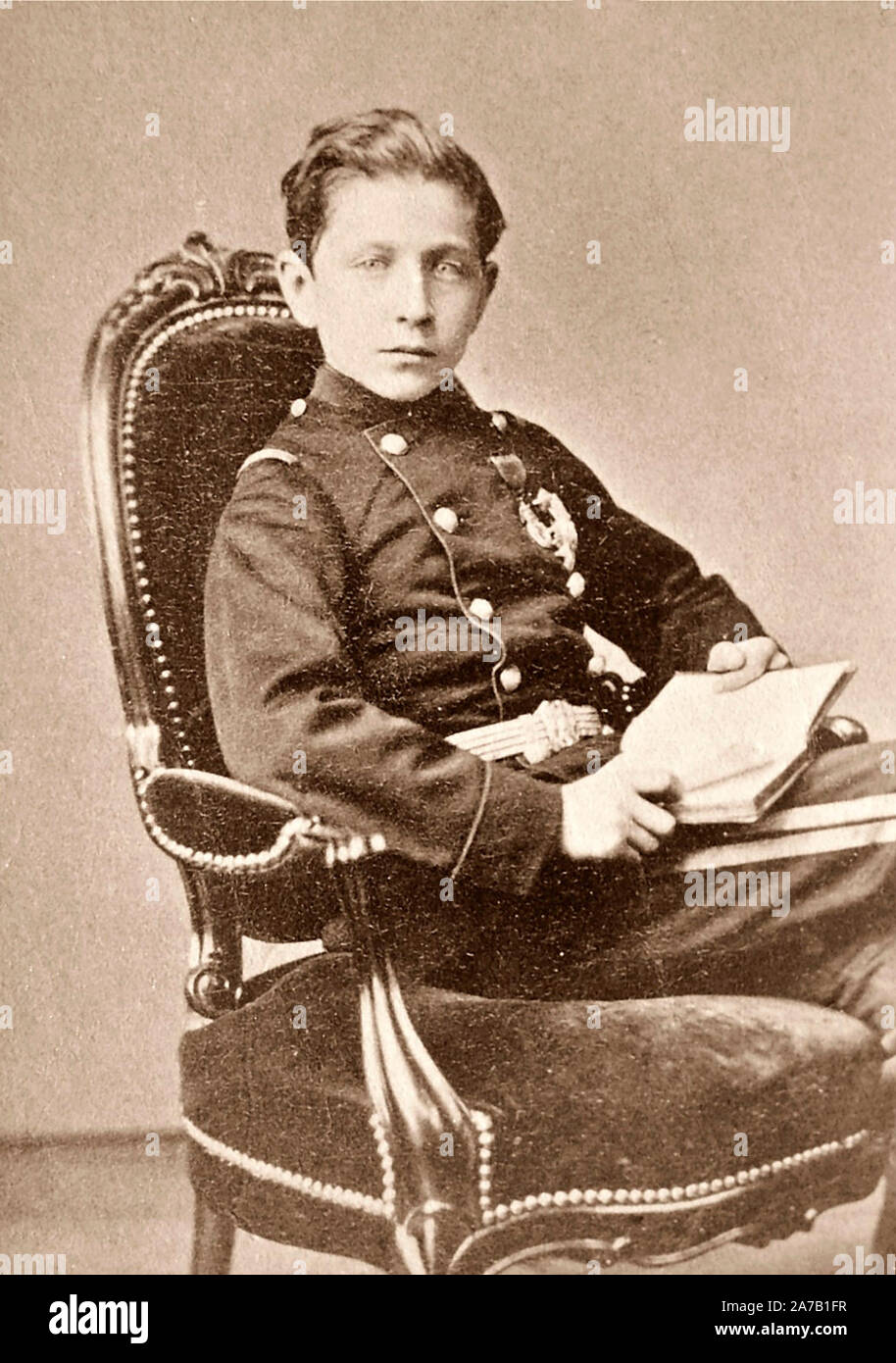 Louis Napoleon, Prince Imperial (1856-1879) at age 14. June 18, 1870 Stock Photo