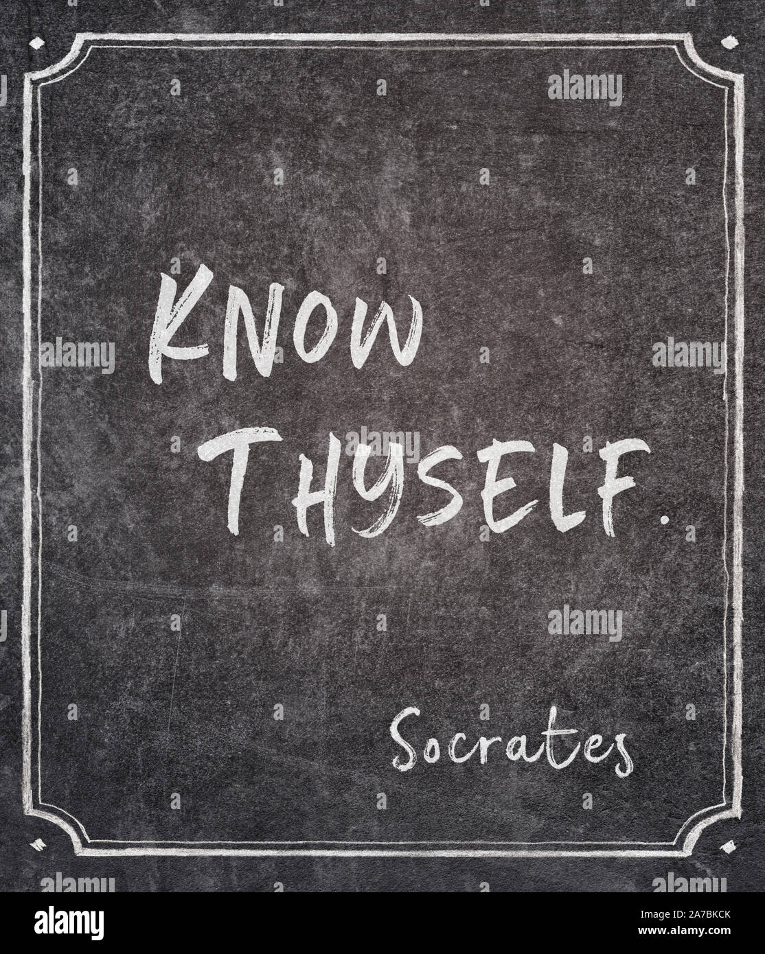 Know Thyself High Resolution Stock Photography And Images Alamy