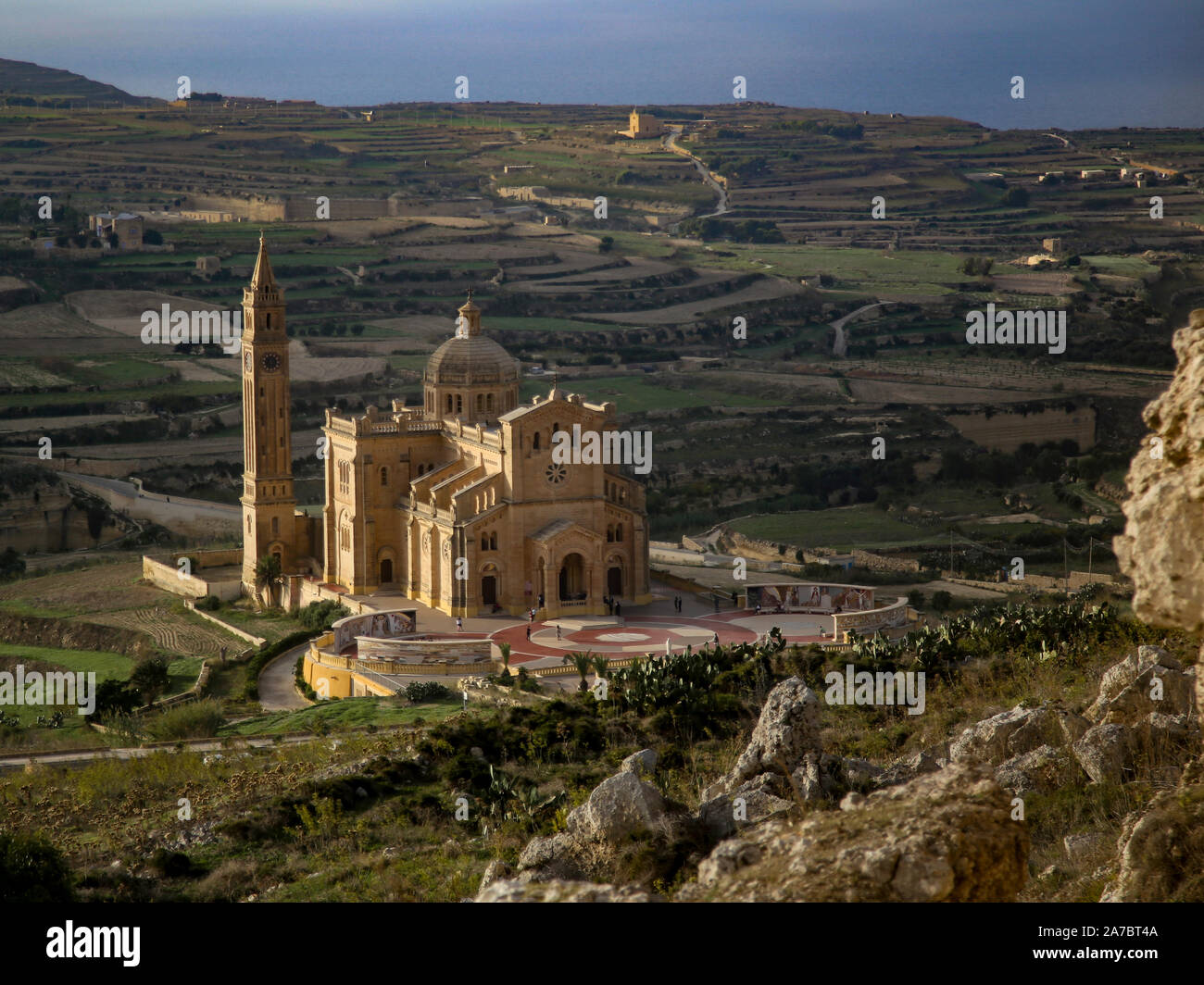 Basilica of the National Shrine of the Blessed Virgin of Ta' Pinu on Gozo Stock Photo