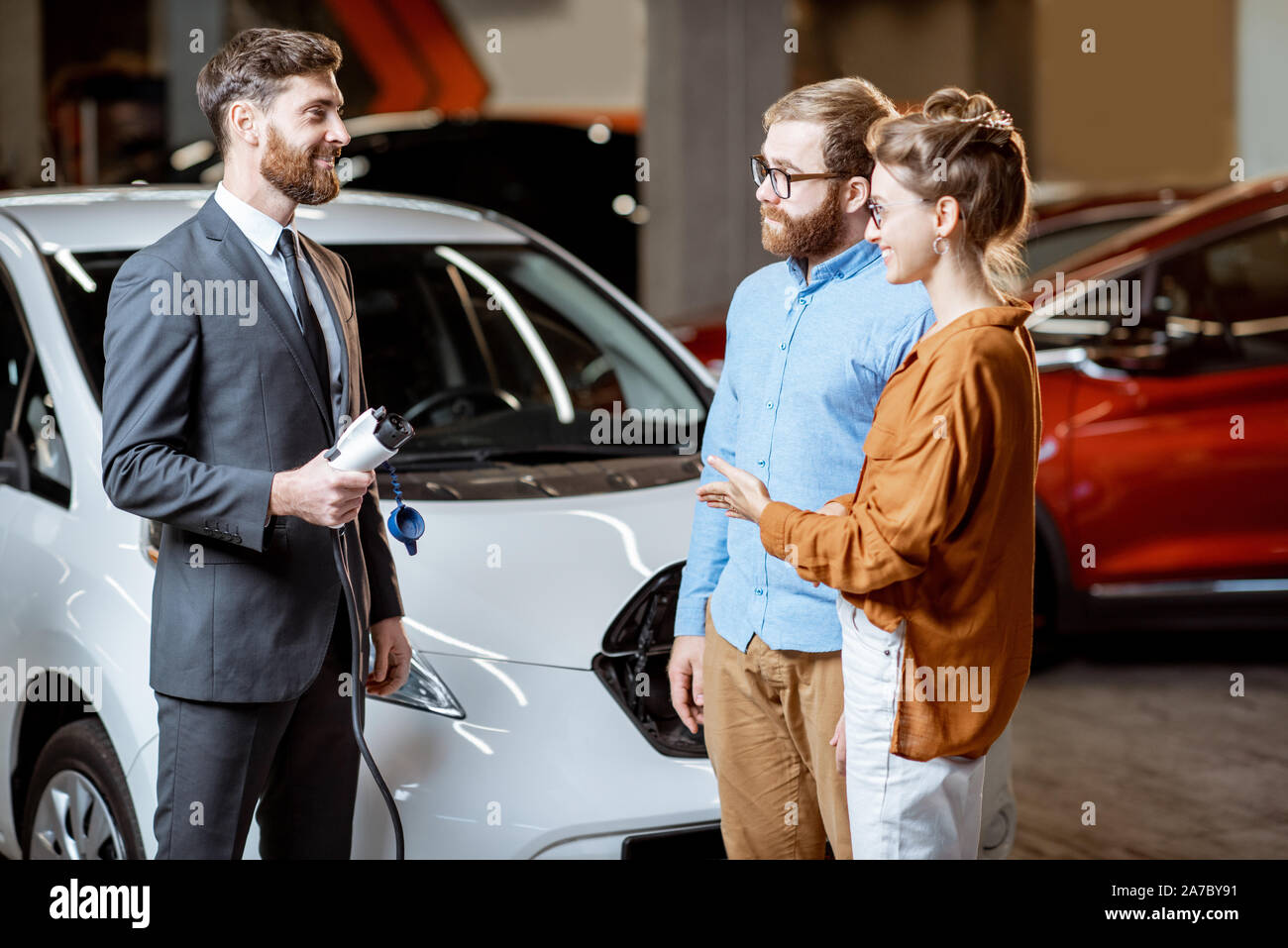 Electric Car Showroom High Resolution Stock Photography And Images Alamy