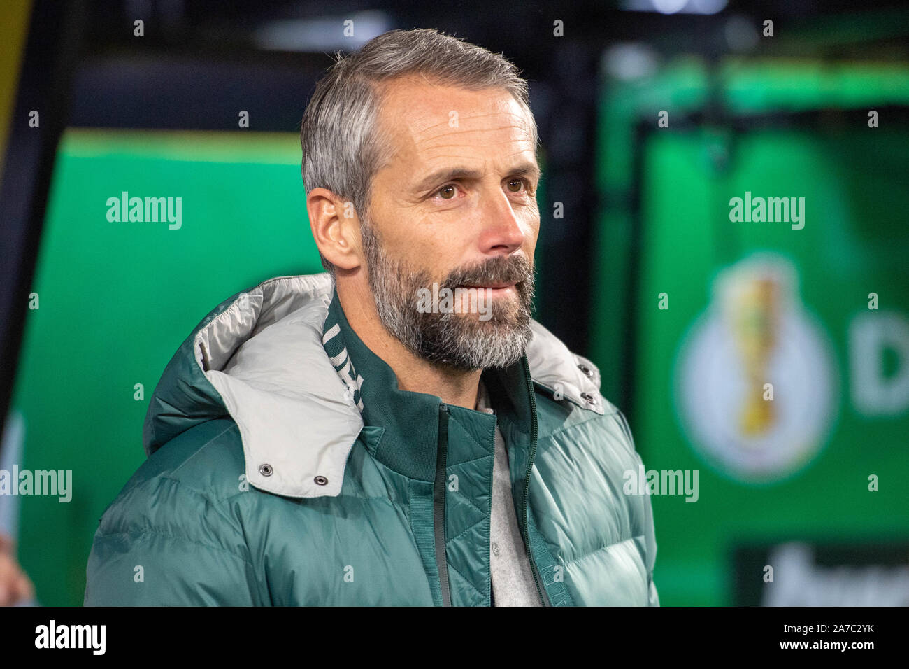 coach Marco ROSE (MG), half-length, football, DFB Pokal, 2nd round, Borussia Dortmund (DO) - Borussia Monchengladbach (MG) 2: 1, on 30.10.2019 in Dortmund/Germany. | Usage worldwide Stock Photo