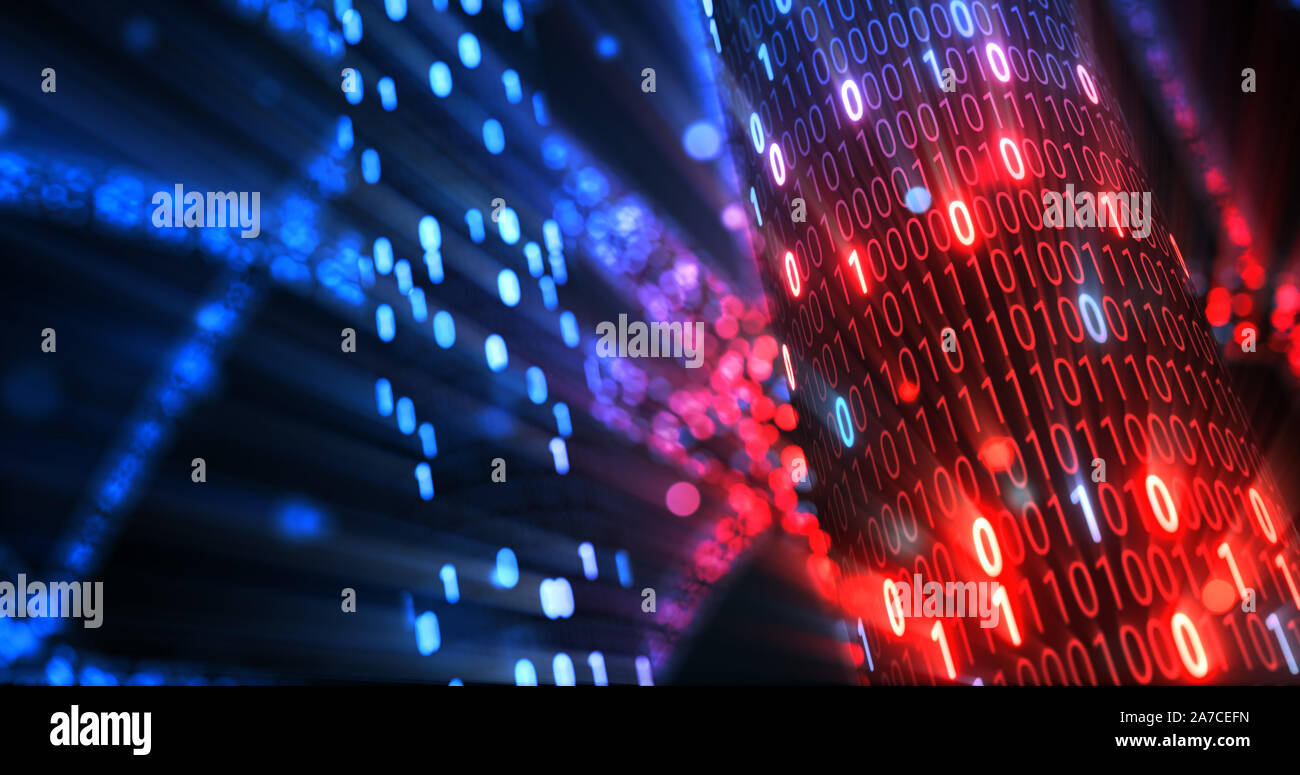 Hacking Red And Blue Digital Binary Code Matrix 01 Background Hacker Dark Web Matrix Digital Data Code In Safety Security Technology Concept 3d Stock Photo Alamy