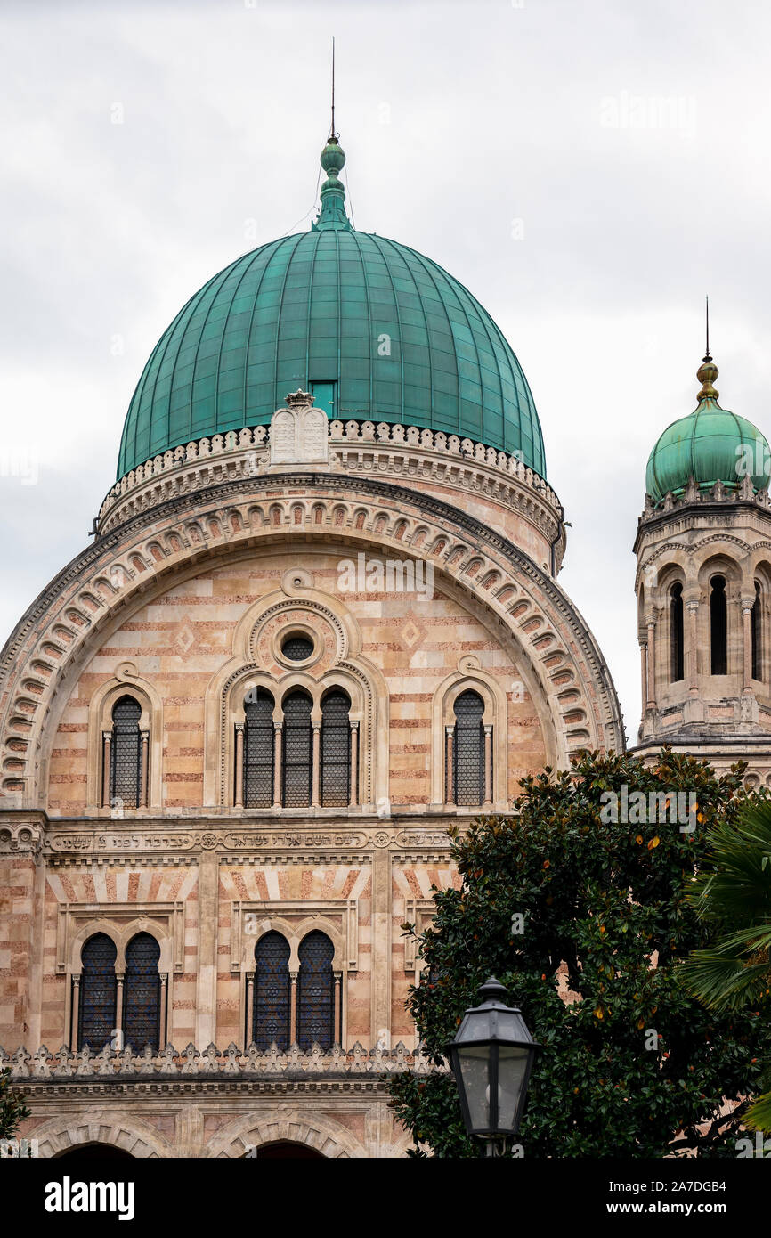 FLORENCE, TUSCANY/ITALY - OCTOBER 20 : Great Synagogue of Florence on October 20, 2019 Stock Photo
