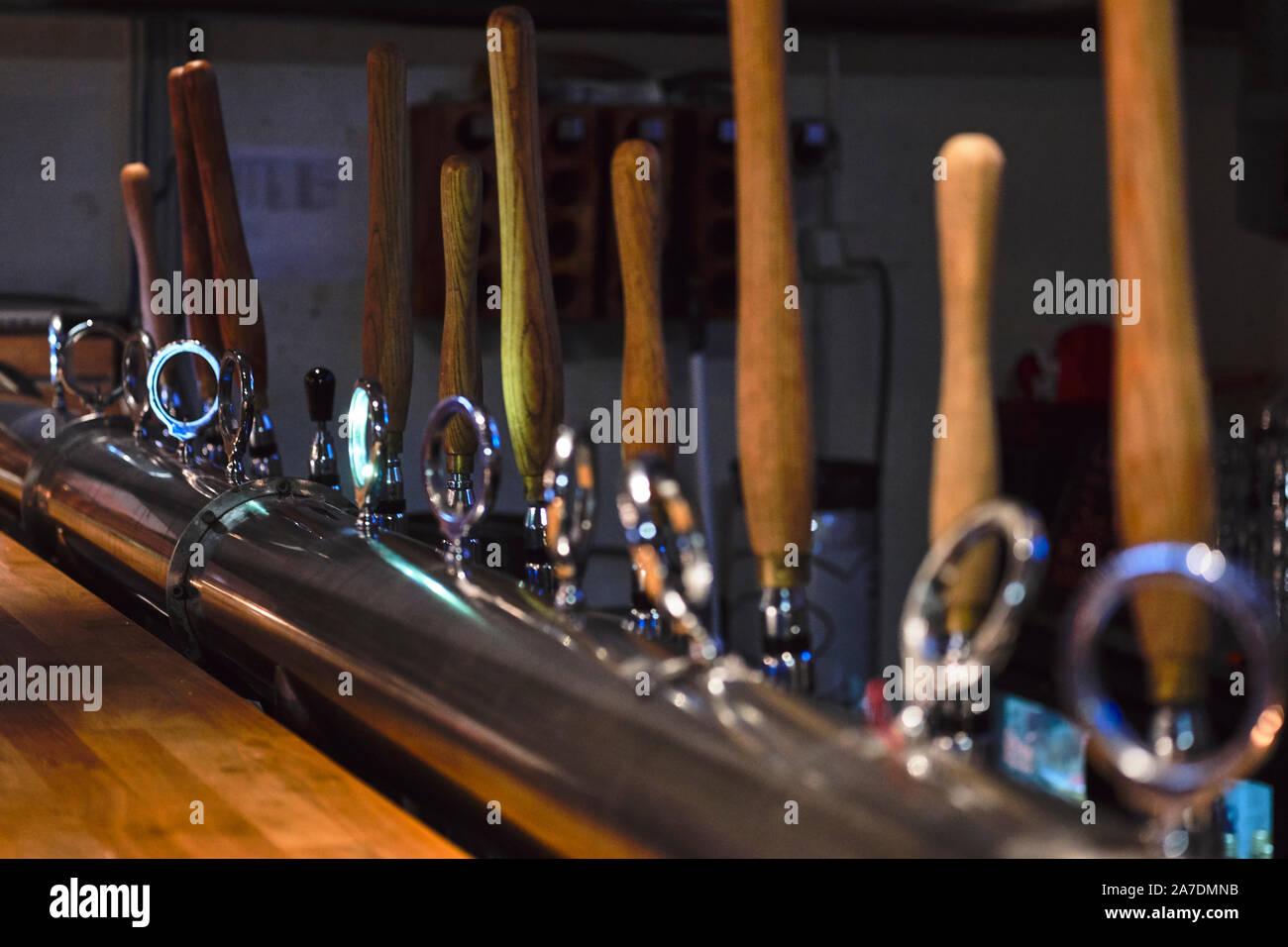 Ægisgarður, craft beer factory in Reykjavik, Icleand Stock Photo