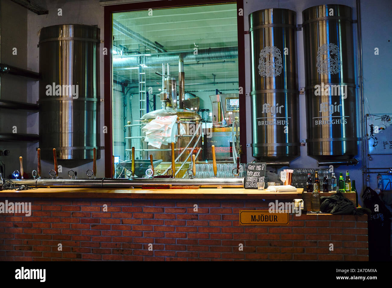 Ægisgarður, craft beer factory in Reykjavik, Icleand Stock Photo
