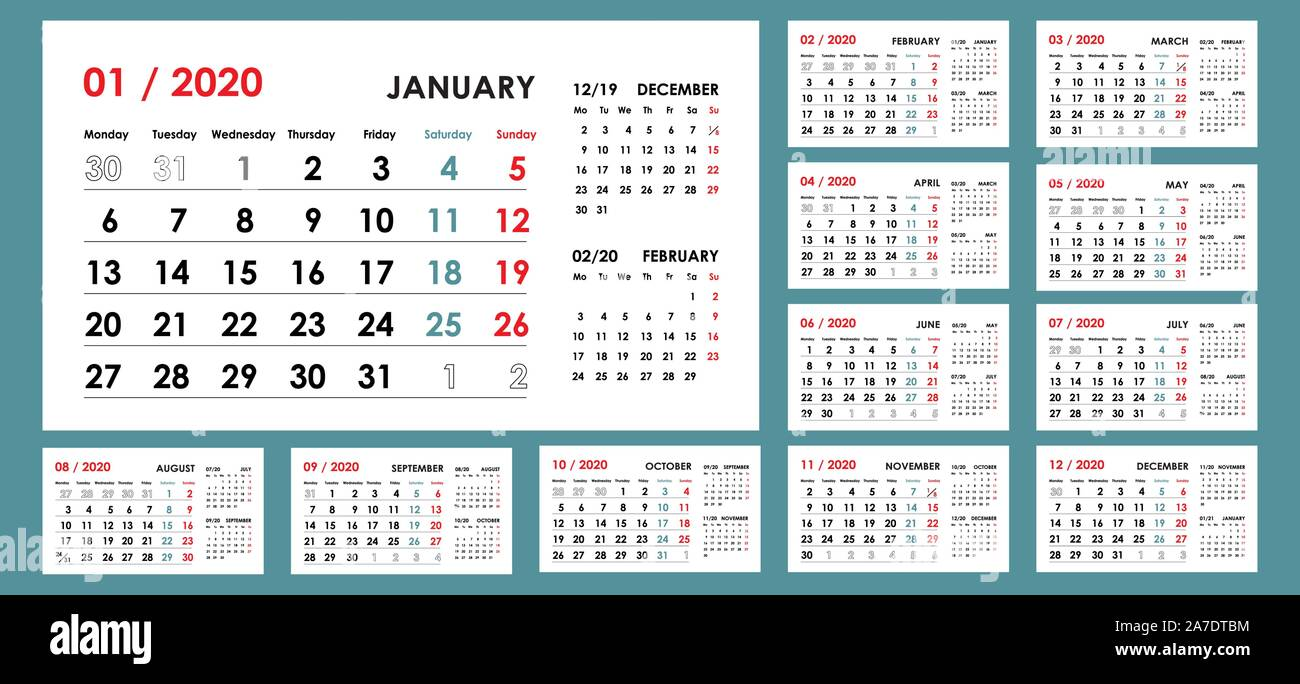 One Month Calendar Template from c8.alamy.com