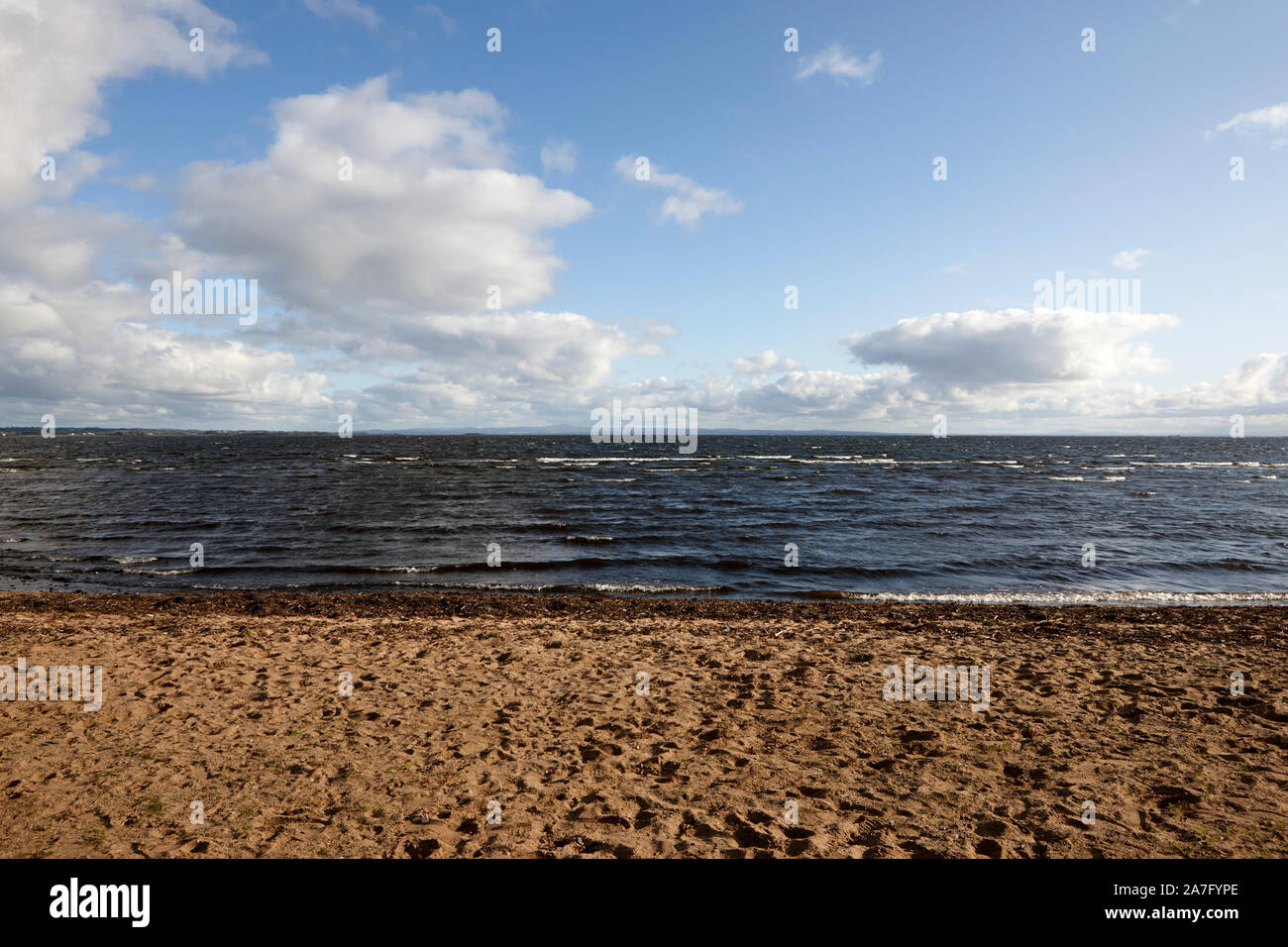 sandy beach at ballyronan on the shores of lough neagh County Derry Northern Ireland Stock Photo