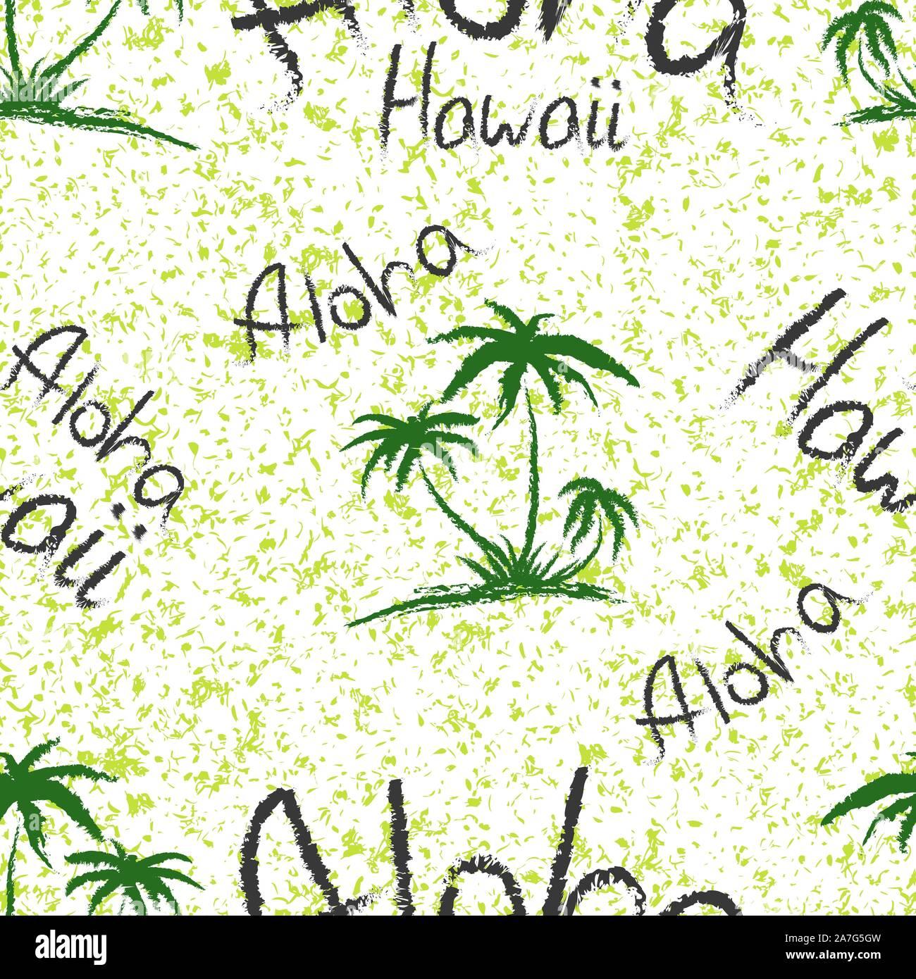 Tropical Hawaiian Sunset Palm Trees Aloha Shirt Panoramic Design