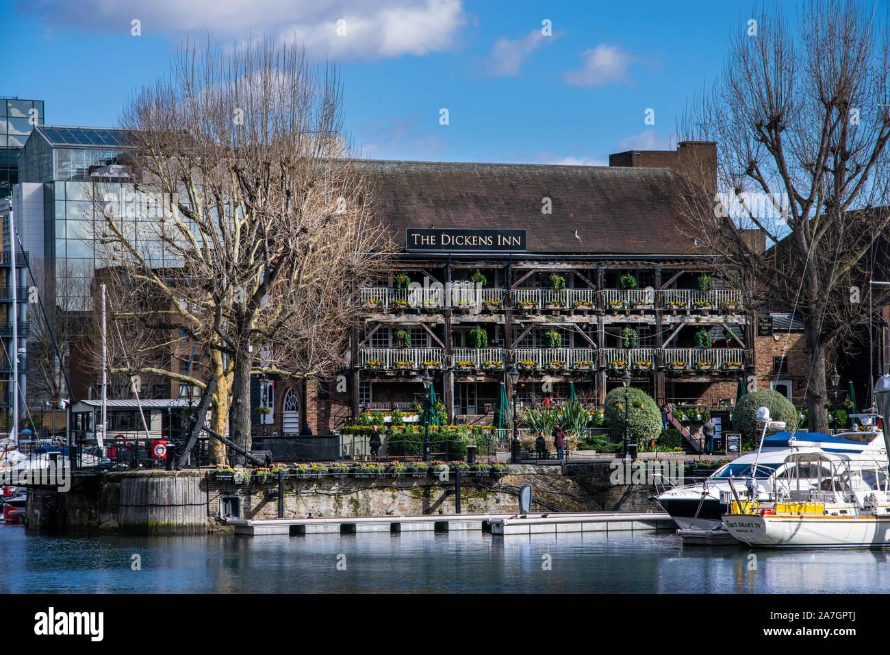 St Katharine Docks Marina London Stock Photo
