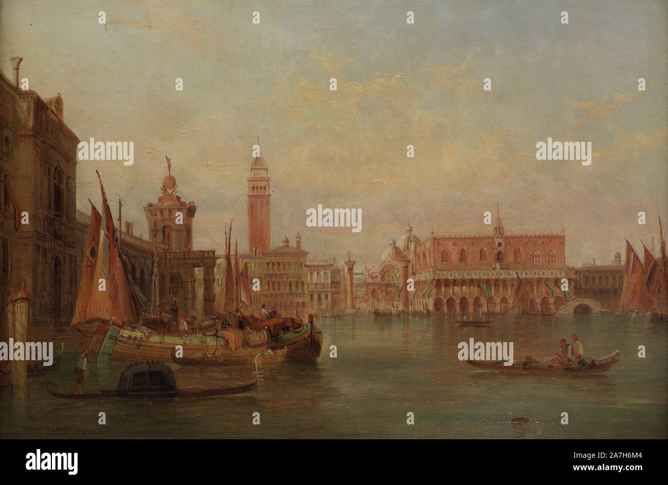 David Roberts (1796-1864). Pintor romántico inglés. Venecia. El Gran Canal, 1847. Museo de Bellas Artes. La Coruña. Galicia. España. Stock Photo