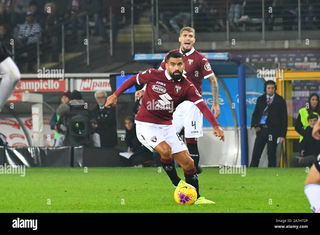 Tomas Rincon (Torino FC) during the Serie A football match between Torino FC and Juventus FC at Stadio Grande Torino on 2st November, 2019 in Turin, Italy. Stock Photo