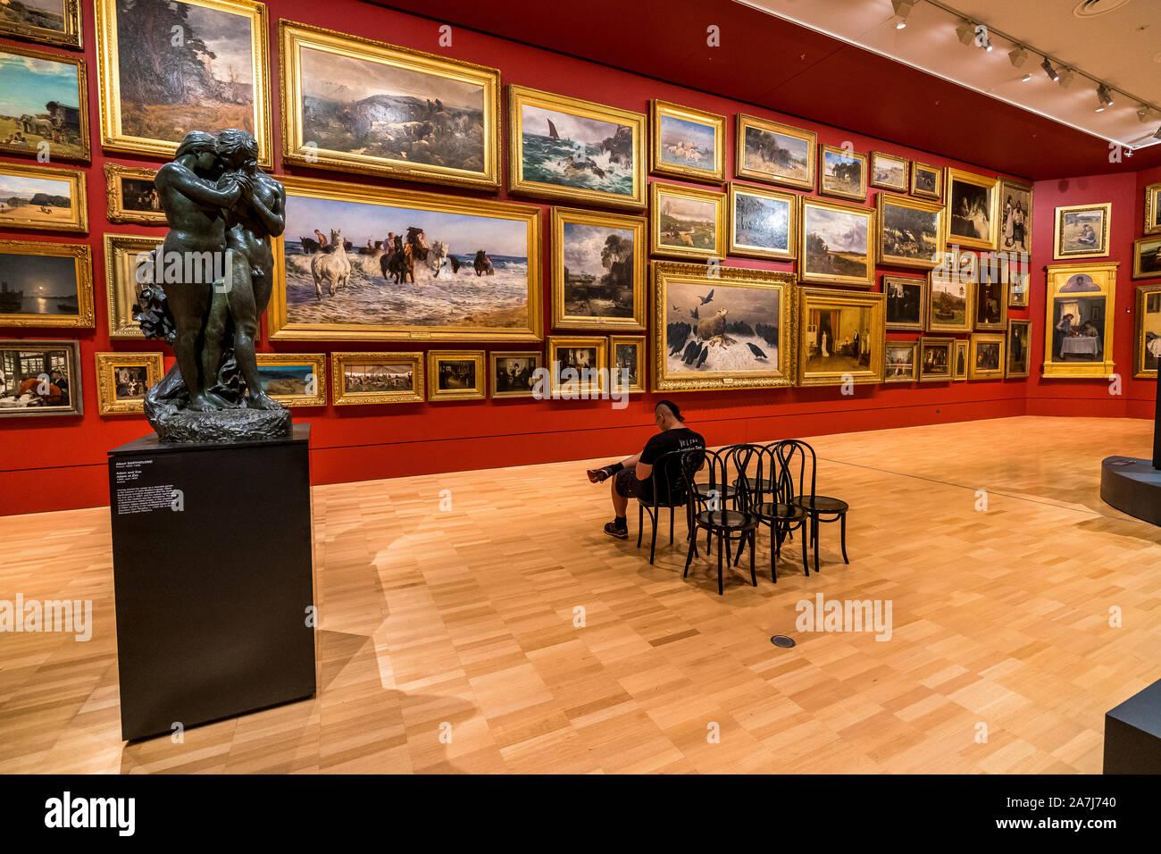 2 Nov 19. Melbourne, Victoria. 19th Century European Salon in the National Gallery of Victoria Stock Photo