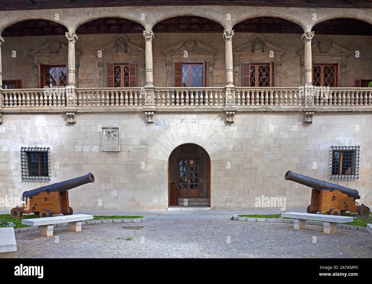 Consulado del Mar, gothic building for maritime trade, today a museum for contemporary arts, Paseo Sagrera, Palma, Palma de Mallorca, Mallorca, Spain Stock Photo