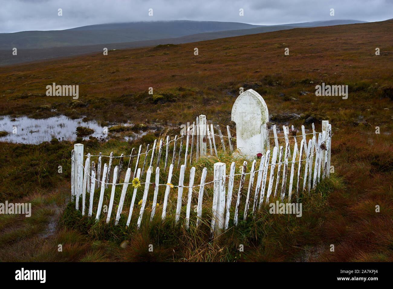 Betty Corrigall's grave, Hoy, Orkney, Scotland Stock Photo