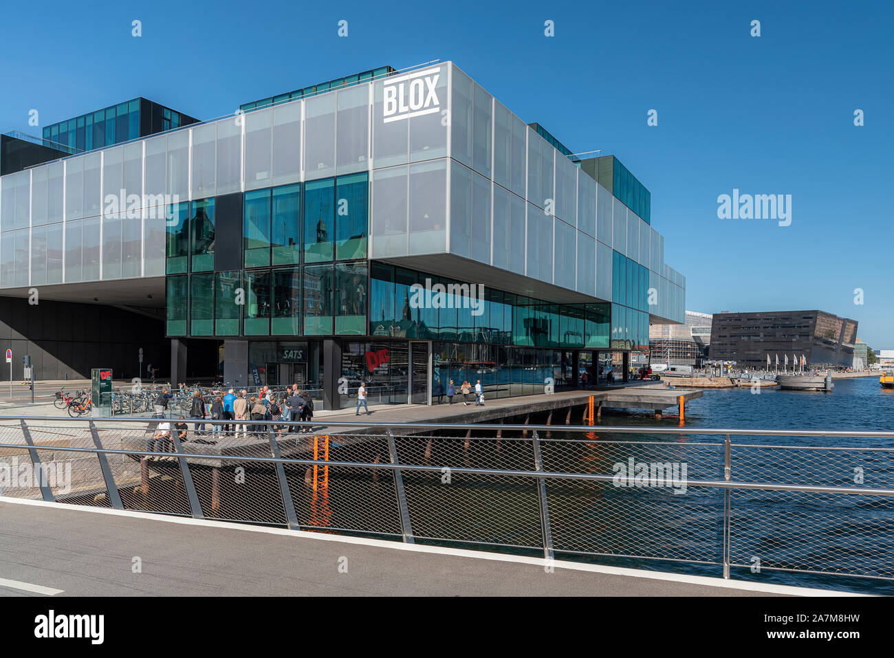 COPENHAGEN, DENMARK - SEPTEMBER 21, 2019: Located on the Copenhagen Harbour front, BLOX is part of the city's cultural circuit of venues that have a r Stock Photo