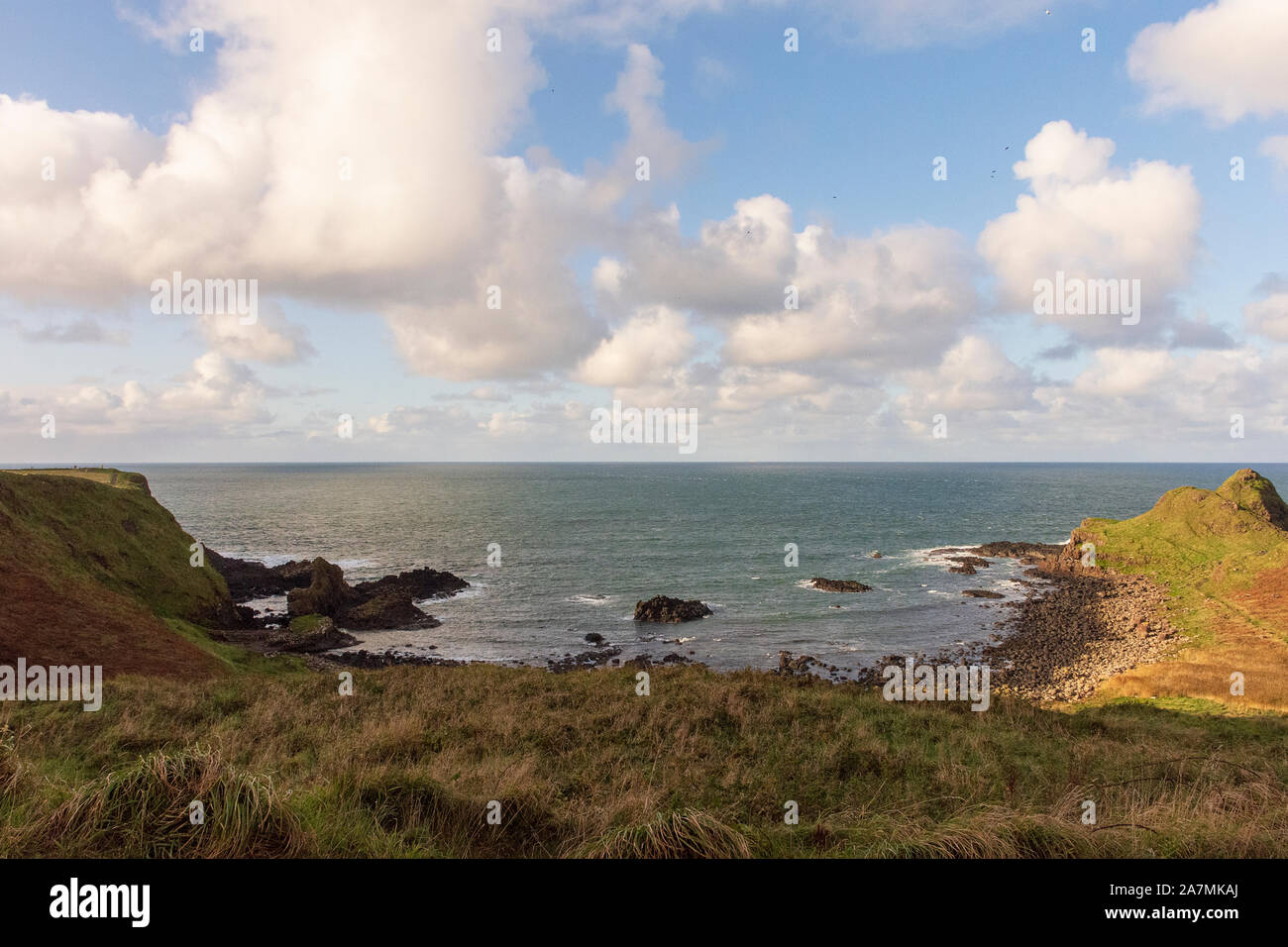 Giant's Causeway afternoon view, Northen Ireland, united Kingdom Stock Photo