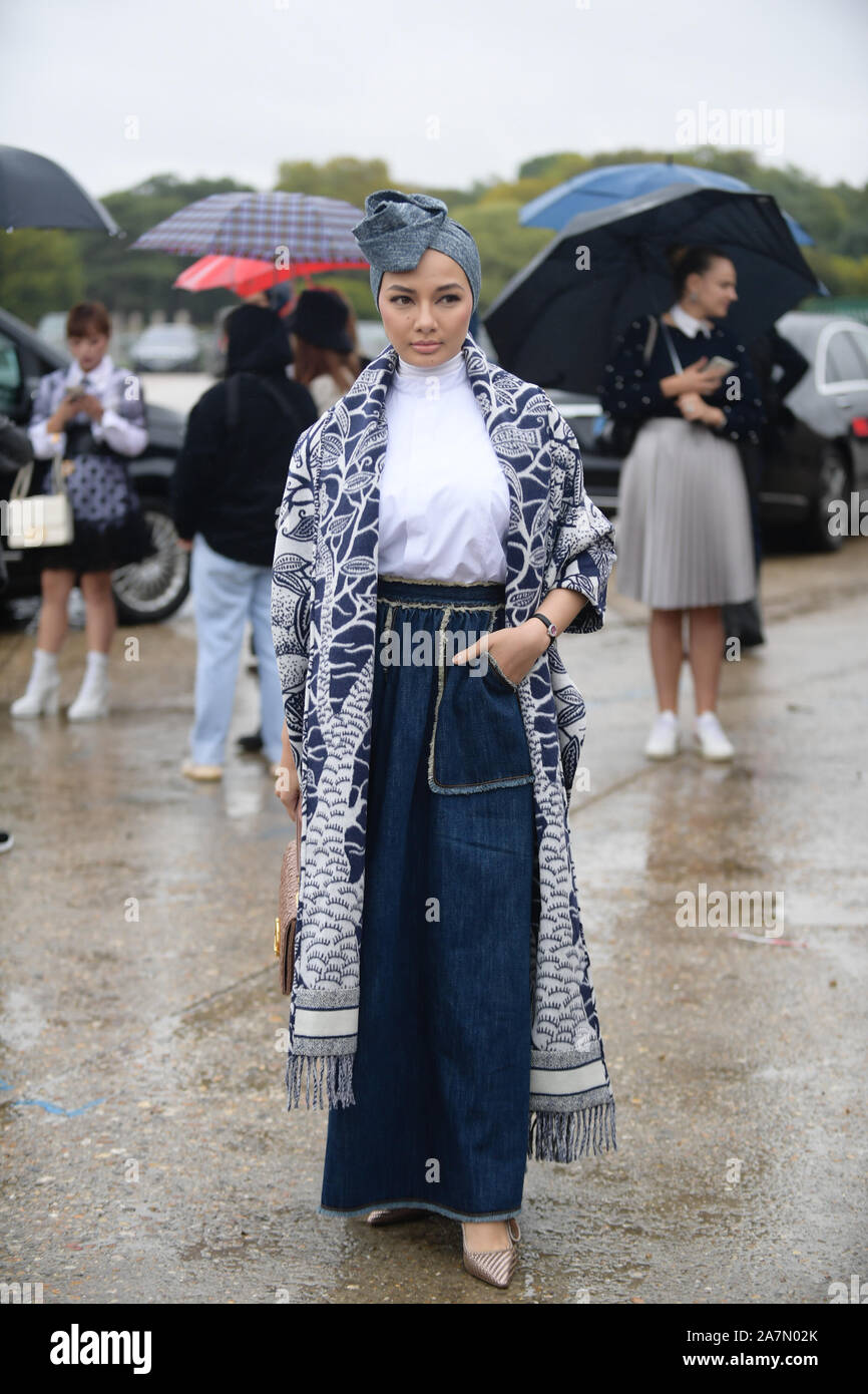 Malaysian actress Noor Neelofa binti Mohd Noor, better known by her stage name Neelofa or Lofa, attends the Christian Dior Womenswear Spring/Summer 20 Stock Photo