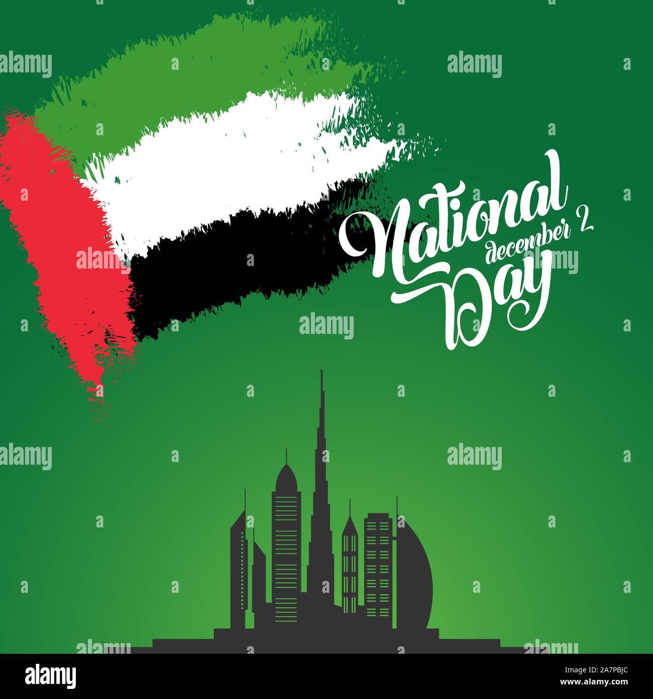 Happy National Day UAE. United Arab Emirates national day ...
