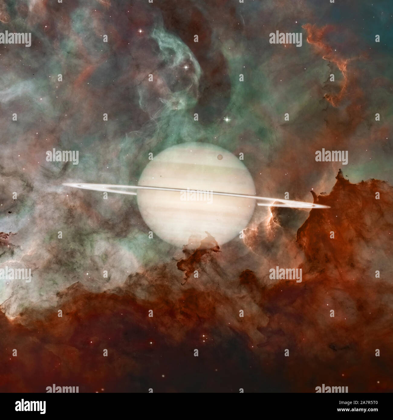 Saturn Planet Of The Solar System Science Wallpaper