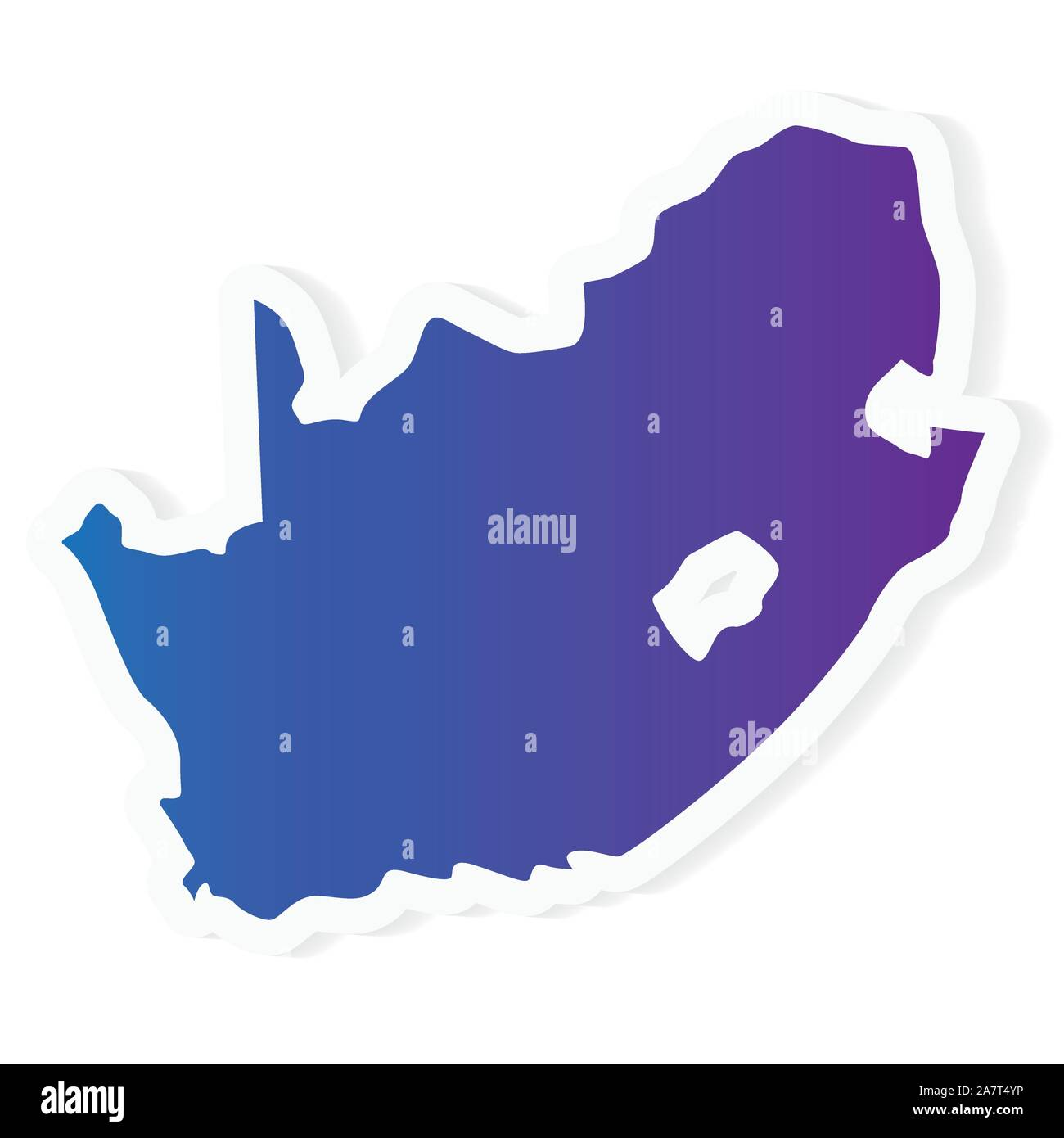 Africa Map Vector Art.Gradient South Africa Map Vector Illustration Stock Vector