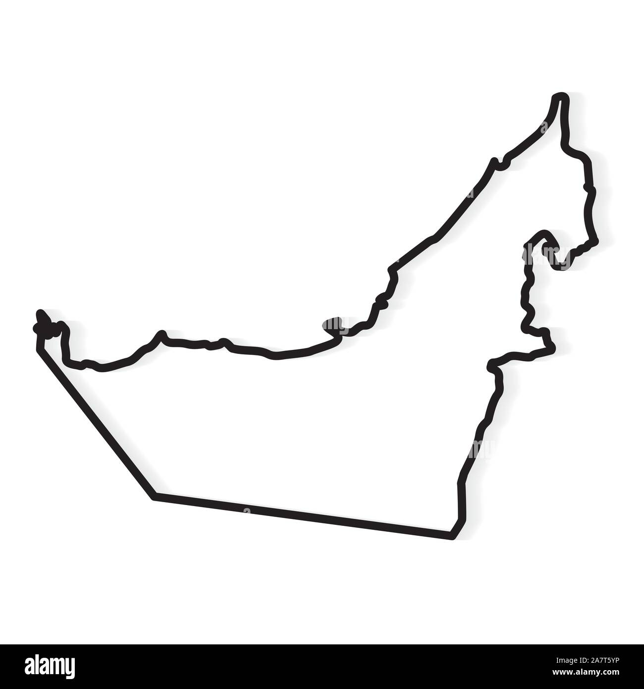 United Arab Emirates Map High Resolution Stock Photography And Images Alamy
