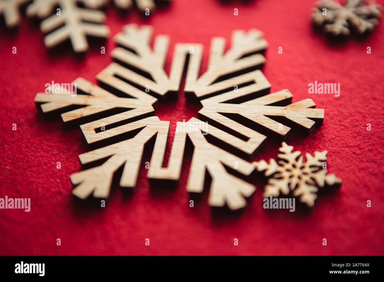 Handmade Wooden Snowflake For Winter Holiday Decoration