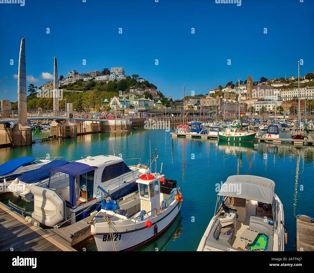 GB - DEVON: Torquay Harbour and Town  (HDR-Image) Stock Photo