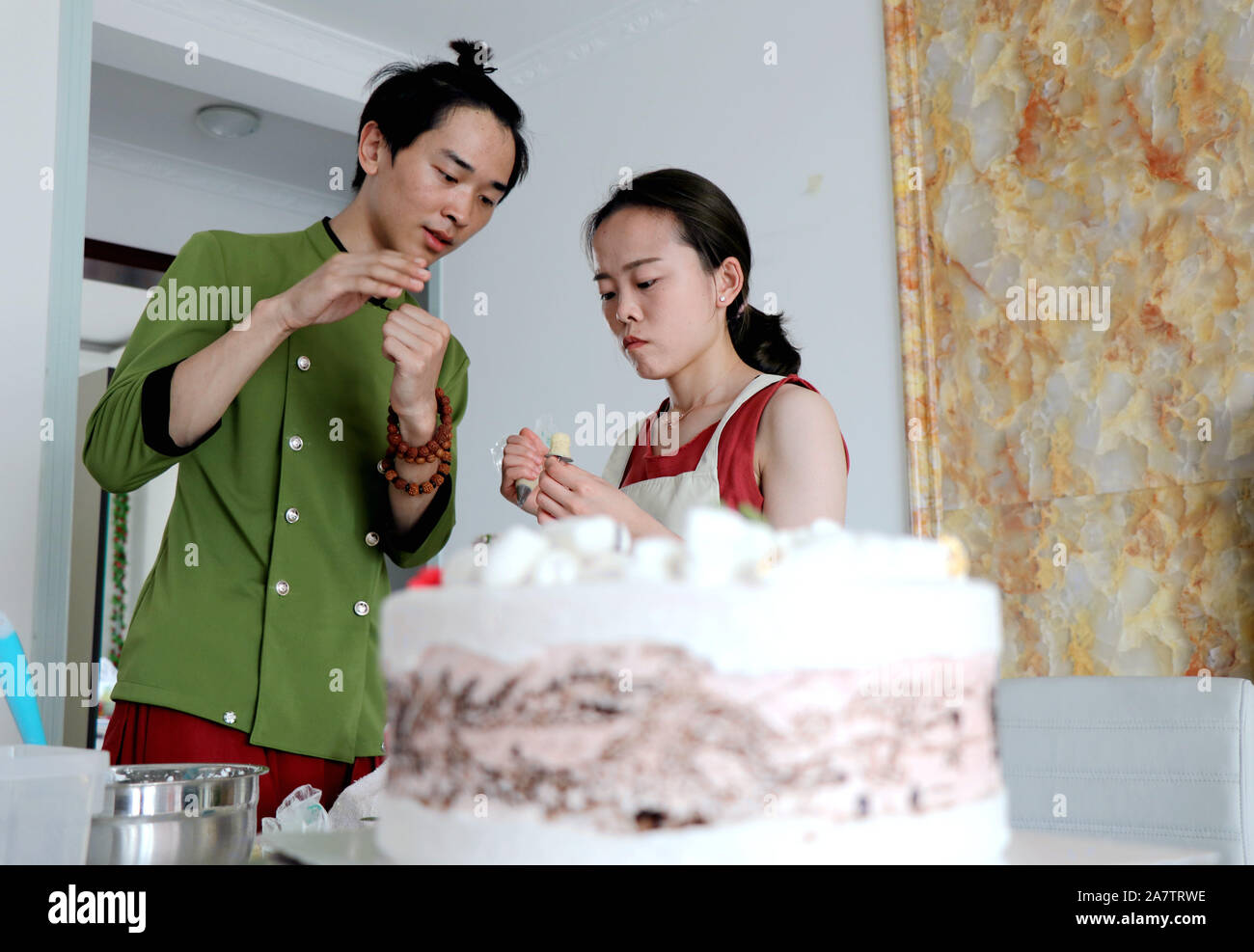 Magnificent Chinese Man Liu Zepeng Makes A Birthday Cake Featuring The Funny Birthday Cards Online Elaedamsfinfo
