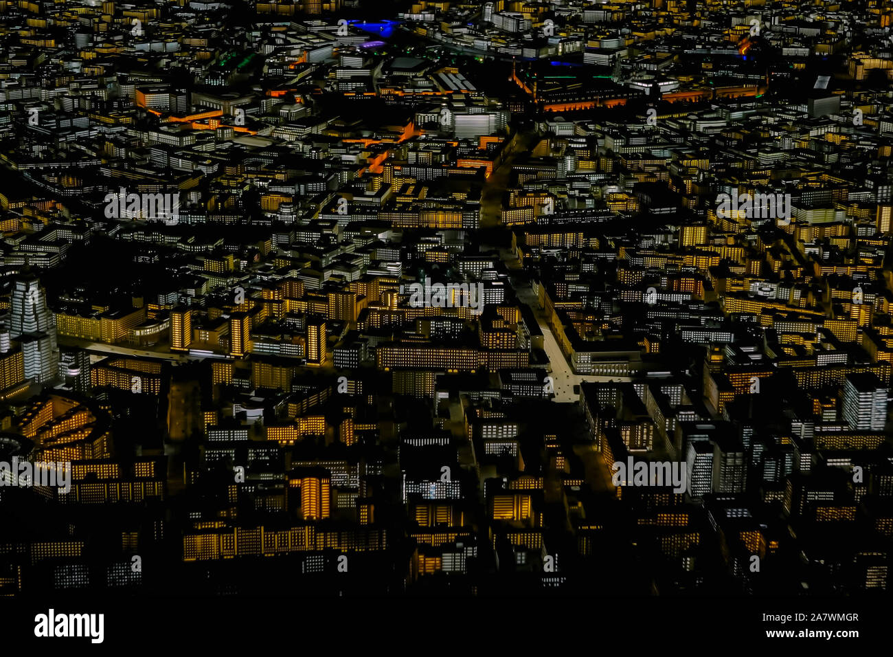 Interactive 3D city model of Moscow Stock Photo