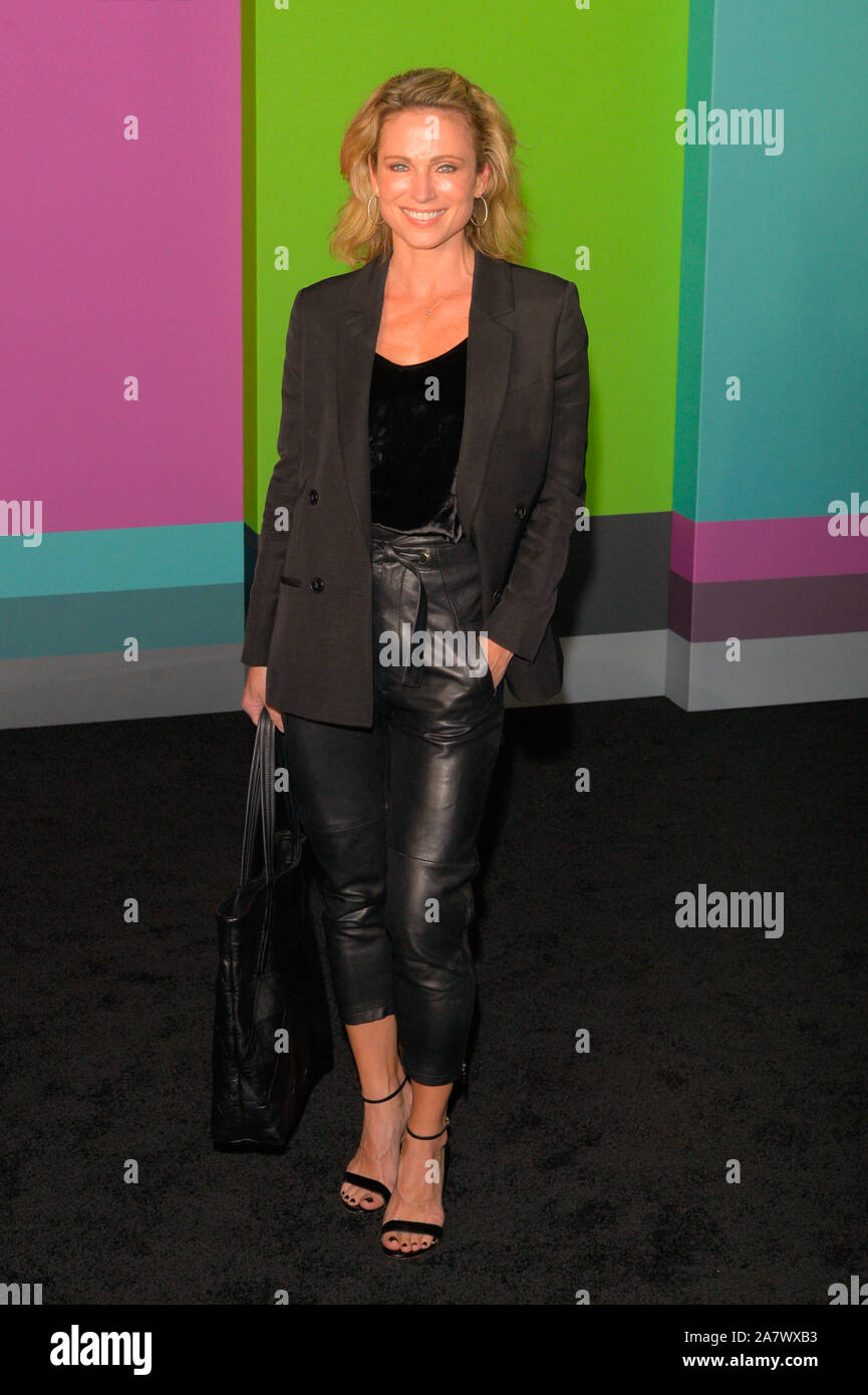 """Amy Robach attends the Apple TV+'s """"The Morning Show"""" World Premiere at David Geffen Hall in New York City. Stock Photo"""
