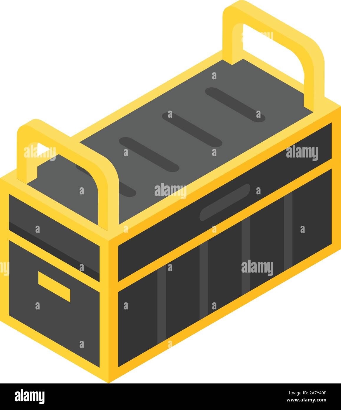 Tools box icon, isometric style Stock Vector