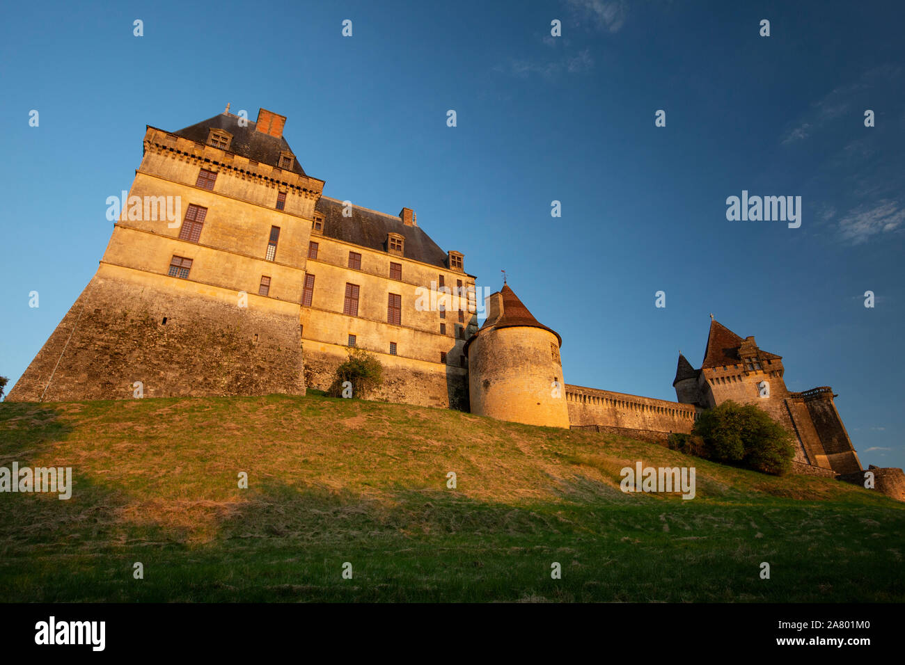 Château de Biron, medieval castle, towards the southern border of the Dordogne region with Lot-et-Garonne and the medieval town of Monpazier, France. Stock Photo