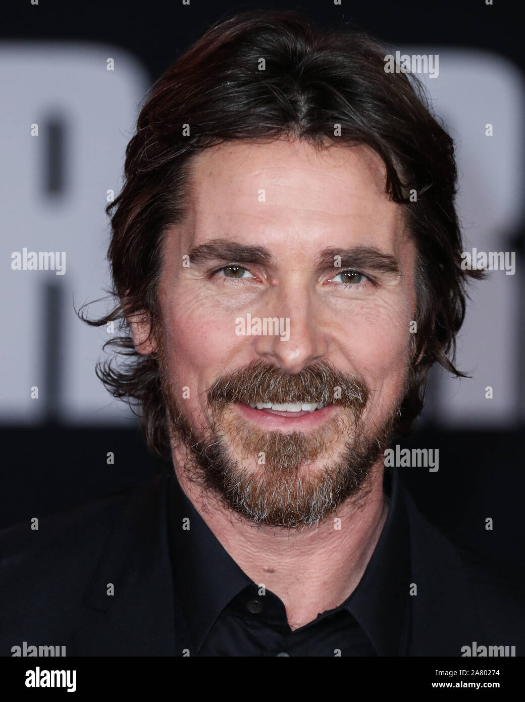 Hollywood Los Angeles California Usa November 04 Actor Christian Bale Arrives At The Los Angeles Premiere Of 20th Century Fox S Ford V Ferrari Held At The Tcl Chinese Theatre Imax On