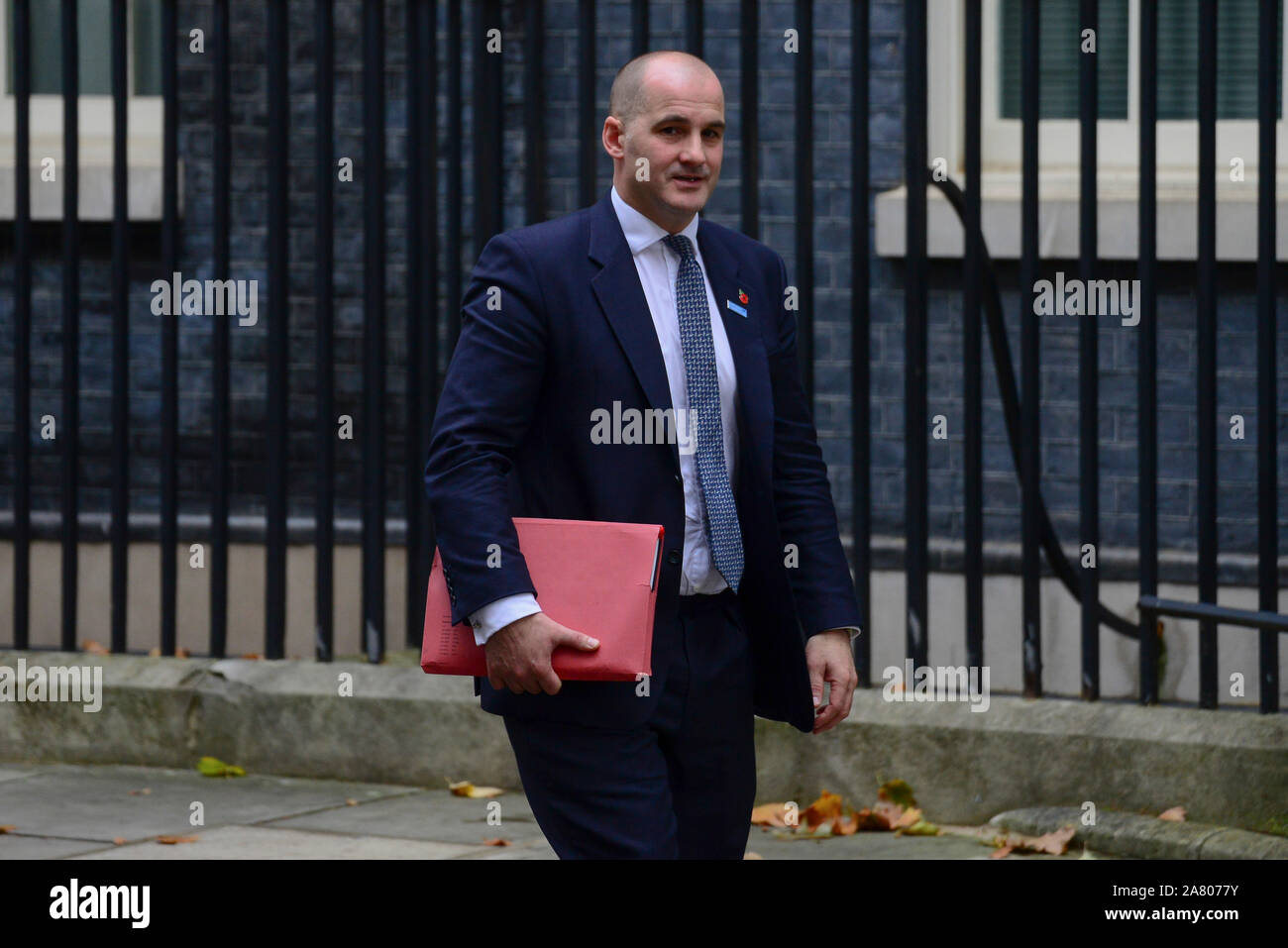 London, UK. 5th November 2019. Minister for the Northern Powerhouse Jake Berry, leaving Downing Street after a Cabinet Meeting. Claire Doherty/Alamy Live News. Stock Photo