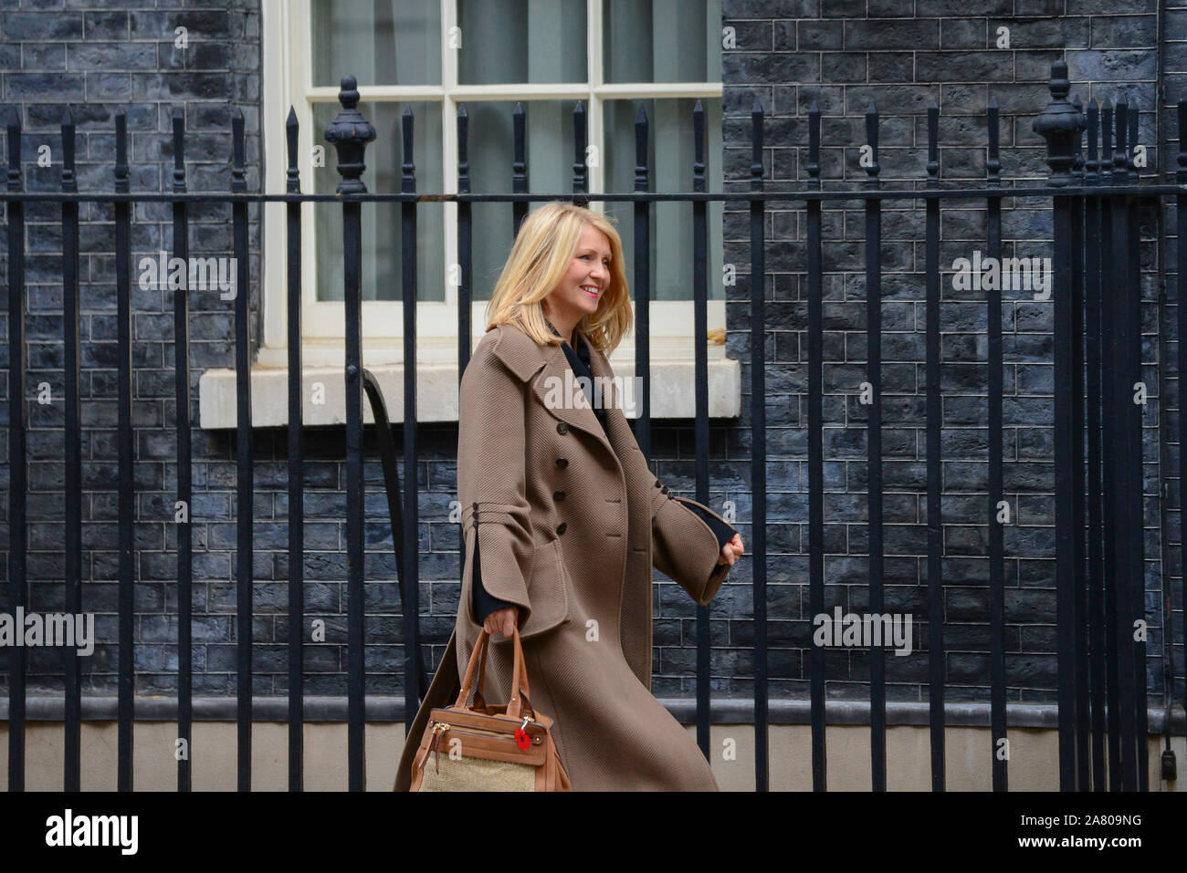 London, UK. 5th November 2019. Esther McVey, Housing Minster leaving Downing Street after a Cabinet Meeting. Claire Doherty/Alamy Live News. Stock Photo