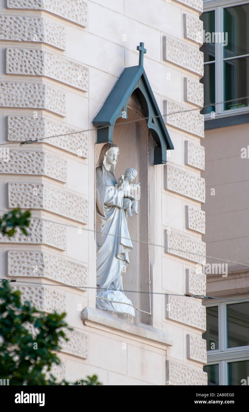 Private elementary school Notre Dame de Sion, District 7, Vienna, Austria Stock Photo